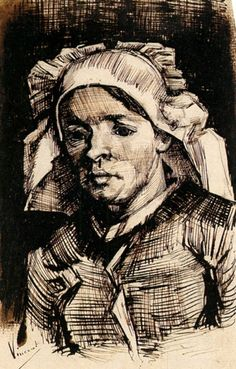 Head of a Woman - Vincent van Gogh - c.1885 Place of Creation: Nunen / Nuenen, Netherlands