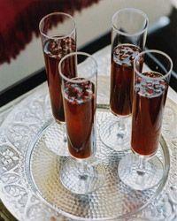 Cava and Pomegranate Cocktails // Modern Summer Cocktails: http://www.foodandwine.com/slideshows/modern-summer-cocktails #foodandwine