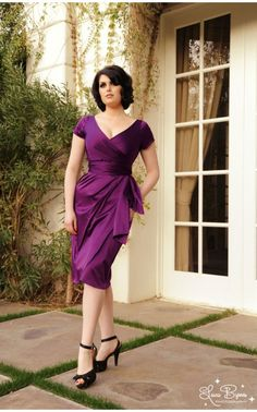 Ava Dress in Plum
