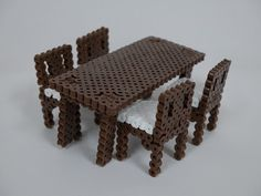 DIY 3D Furniture perler beads - Photo tutorial