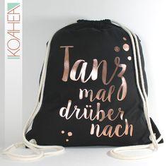 Turnbeutel - Sportbeutel - TANZ MAL - schwarz und kupfer - ein  Designerstück von KOAHEA bei 093ae3c2a5