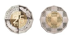New 25 kuna coin for 25 years of Independence #croatia #coin #25kuna #CroatianIndependence #touristar