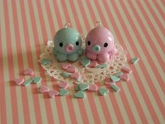 best friend octopus polymer clay charm by Littletreasurehouse, $4.99