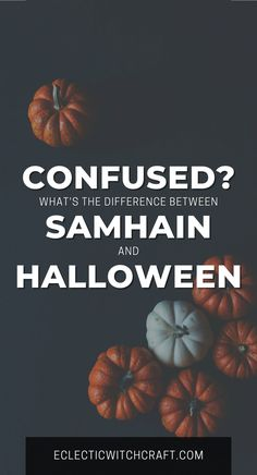 Halloween decorations and costumes are fun, but what does the witch's holiday Samhain have to do with Halloween? Samhain or Halloween: What's the different? #halloween #samhain #witch #witchcraft #pagan #wicca Halloween Crafts For Kids, Adult Halloween, Halloween Party, Halloween Decorations, Witchcraft, Wiccan, Magick, Samhain Traditions, Hindu New Year