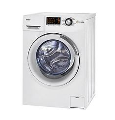 Clean your clothes efficiently with this Haier front-load combo washer/dryer. It has a stainless steel drum for durability and longevity, and it uses a non-vented condensed drying system so you don't need an external vent. This small-footprint Haier front-load combo washer/dryer is suitable for compact spaces, and it has eight wash cycles to handle any load.