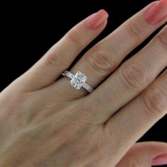 Radiant Cut Solitaire Diamond Engagement Rings Yellow Gold 50