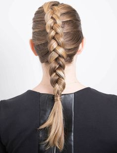 Thick inside out braid. A braid how-to by Cosmopolitan