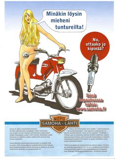 vanhat mainokset - Google Search Old Pictures, My Photos, Good Old Times, Scooter Girl, Ancient History, Vintage Ads, Finland, Cars And Motorcycles, Motorbikes