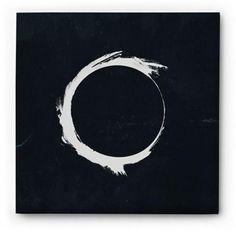 Zen Art - Black and White Circle