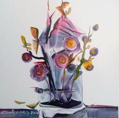 El Jarrón con Flores. Del Jardín de Orion. Medida 15x15 cm.