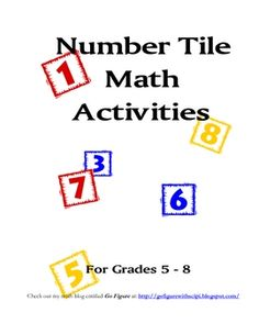 FREE! Number Tiles is a FREE seven page resource containing four different math problem solving activities for the grades 5-8.