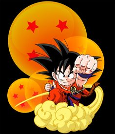 Camiseta Dragon Ball. Goku y bolas dragón mágicas