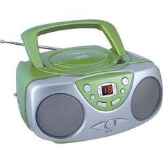 Sylvania Portable Cd Radio Boom Box (green)