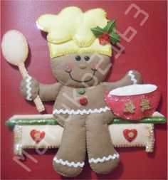 (●̮̮̃•̃)_ Galletas ...... (Algunos con Moldes) ..........Para Estrellita Blanca ❀◕‿◕❀ Holiday Crafts, Holiday Fun, Holiday Decor, Felt Ornaments, Christmas Ornaments, Primitive Crafts, Soft Sculpture, Gingerbread, Merry Christmas