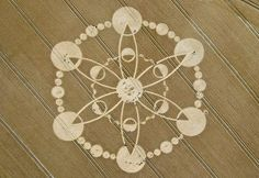 Crop Circle at Windmill Hill, near Avebury Trusloe, Wiltshire, England - photo by Crop Circle Connector, via Psychedelic Adventure;   27 July 2010