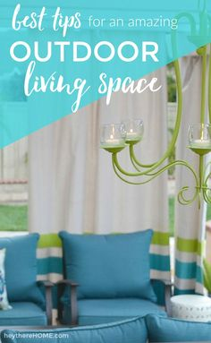 Follow these tips from @heytherehome to create the ultimate outdoor living space: