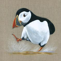 Splashing Puffin by Cathy Stringer