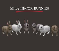 Leo Sims – Decor Bunnies for The Sims 4 Sims 4 Pets, Sims 1, Sims 4 Family, Sims Medieval, Sims 4 Gameplay, Sims 4 Cc Skin, Sims 4 Cc Furniture, The Sims 4 Download, Sims 4 Build