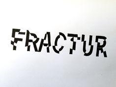 Fractur Handwritten typography 4.25.15