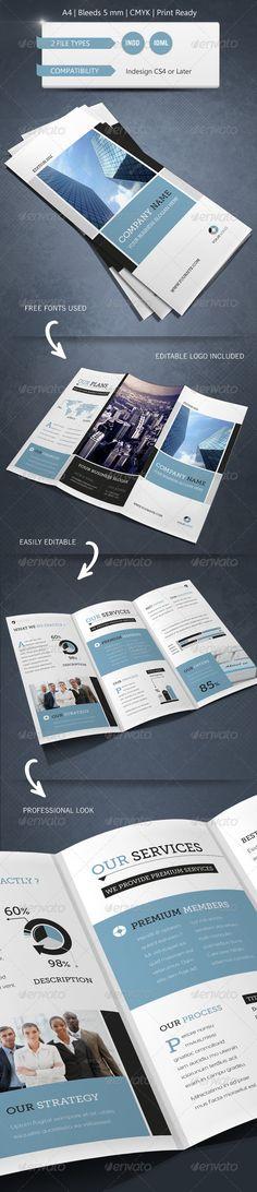 Modern & Corporate Trifold Brochure Template - Brochures Print Templates