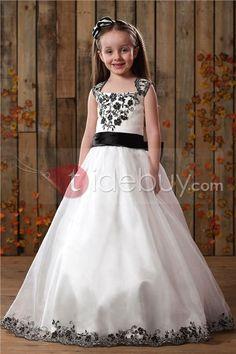 A-Line Square Tea-length Flower Girls Dress : Tidebuy.com