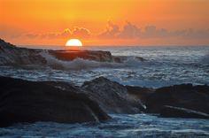 Sunrise over Pacific Ocean, Terrigal, NSW Australia