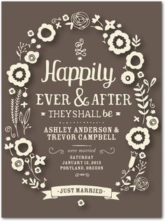 Nothing Fancy Just Pure Love Elopement Announcement Cards Wedding Printed And 78