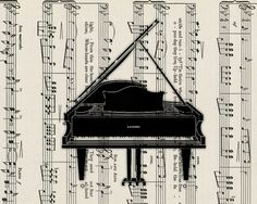 music sheet with piano...so cute framed in piano room.