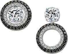 Diamonds with convertible diamond earring jackets