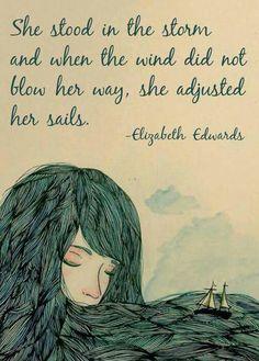 Adjusted her sails