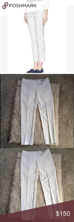 St. John Jennifer pants in white St. John Jennifer pants in white! Never worn. Brand new without tags! In perfect condition! Very cute color and style for the current seasons. Still being sold at full price at saks and Nordstrom St. John Pants Trousers