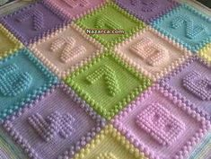 255 Likes, 7 Comments - Özgül Crochet Bobble Blanket, Bobble Stitch Crochet, Crochet Bedspread, Crochet Blanket Patterns, Baby Knitting Patterns, Crochet Letters Pattern, Crochet Alphabet, Manta Crochet, Crochet Baby