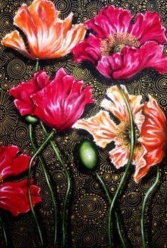 "Saatchi Art Artist Cherie Roe Dirksen; Painting, ""Iceland Poppy Mix"" #art"