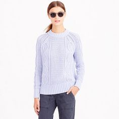 Spring Staple: Cotton Cable Sweater
