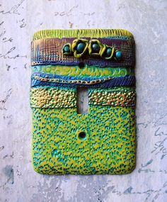 New Beginnings light switch cover polymer clay by TMBakerDesigns