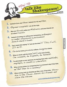 How to Talk like Shakespeare