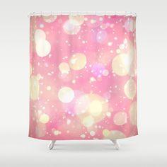 Pink Sparkling Joy Shower Curtain