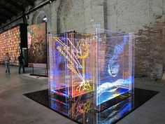 Pin Perspex light art - laser cut and ingraving: Acrylics Lights, Inspiration, Lights Light Art Installation, Instalation Art, Exhibition Display, Exhibition Ideas, 3d Laser, Wow Art, Display Design, Public Art, Plexus Products