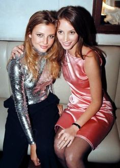 Christy Turlington with Bridget Hall.