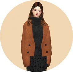 ACC short winter coat at Marigold via Sims 4 Updates