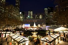 Bryant Park at Christmas time. My FAVORITE