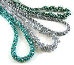 Kumihimo Beaded Necklaces - FREE PATTERNS