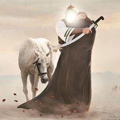 Ya Hussain Wallpaper, Imam Hussain Wallpapers, Ali Islam, Battle Of Karbala, Imam Hussain Karbala, Karbala Photography, Islamic Posters, Islamic Cartoon, Islamic Wallpaper