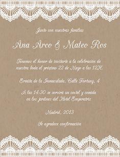 Encaje-Celebra con estilo con las invitaciones y tarjetas virtuales de LaBelleCarte: www.LaBelleCarte.com