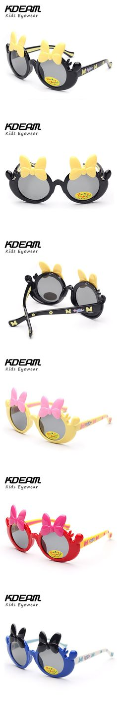 KDEAM Super Light Kids Sunglasses Polarized Children Round Cute Safety Glasses Brand Designer TR90 Oculos Infantil With Box