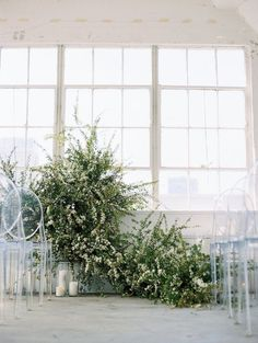 Modern Industrial Greenery Ceremony Decor