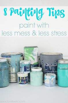 So helpful! These painting tips will make your next paint job look so much more professional.