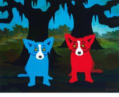 Two Family Trees, 2013 George Rodrigue, Acrylic on Canvas