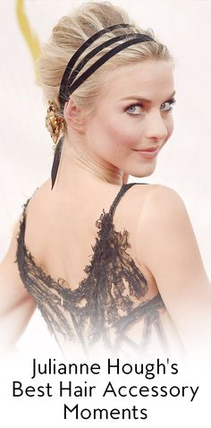 Julianne Hough is like the queen of hair accessories. Take a look at some of her best moments rocking barrettes, bobby pins, and headbands, below.