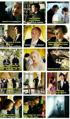 ❤ Sherlock The Sign of Three | So many great moments.
